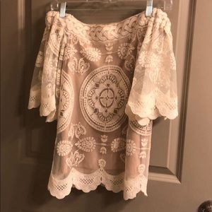 Jen's Pirate Booty Tops - Lace boho blouse